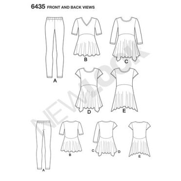 newlook-tops-vests-pattern-6435-front-back-view