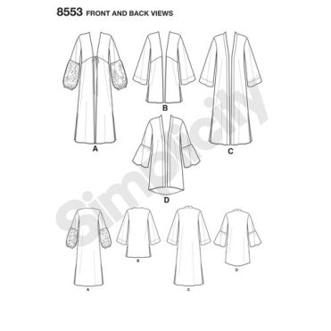 simplicity-folk-robe-pattern-8553-front-back-view