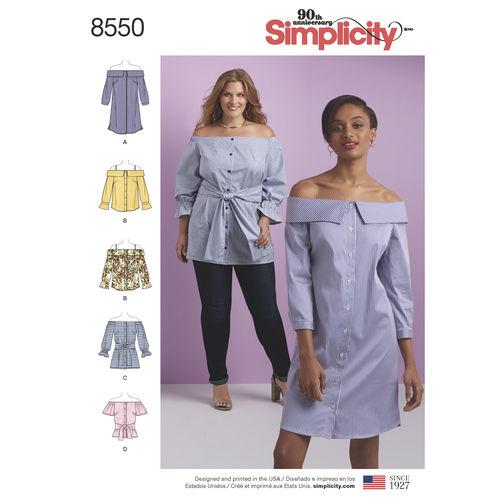 simplicity-off-shoulder-shirt-pattern-8550-envelope-front